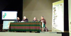 Fran, Adalberto, Juan Carlos y Txarli en la charla que ofrecieron en el Aula San Pablo